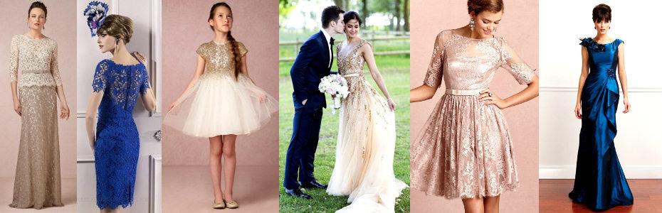 Eleganckie suknie i modne sukienki na wesele 2018